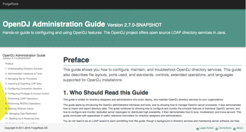 A fresh look for the OpenDJ and OpenIG snapshot documentation…